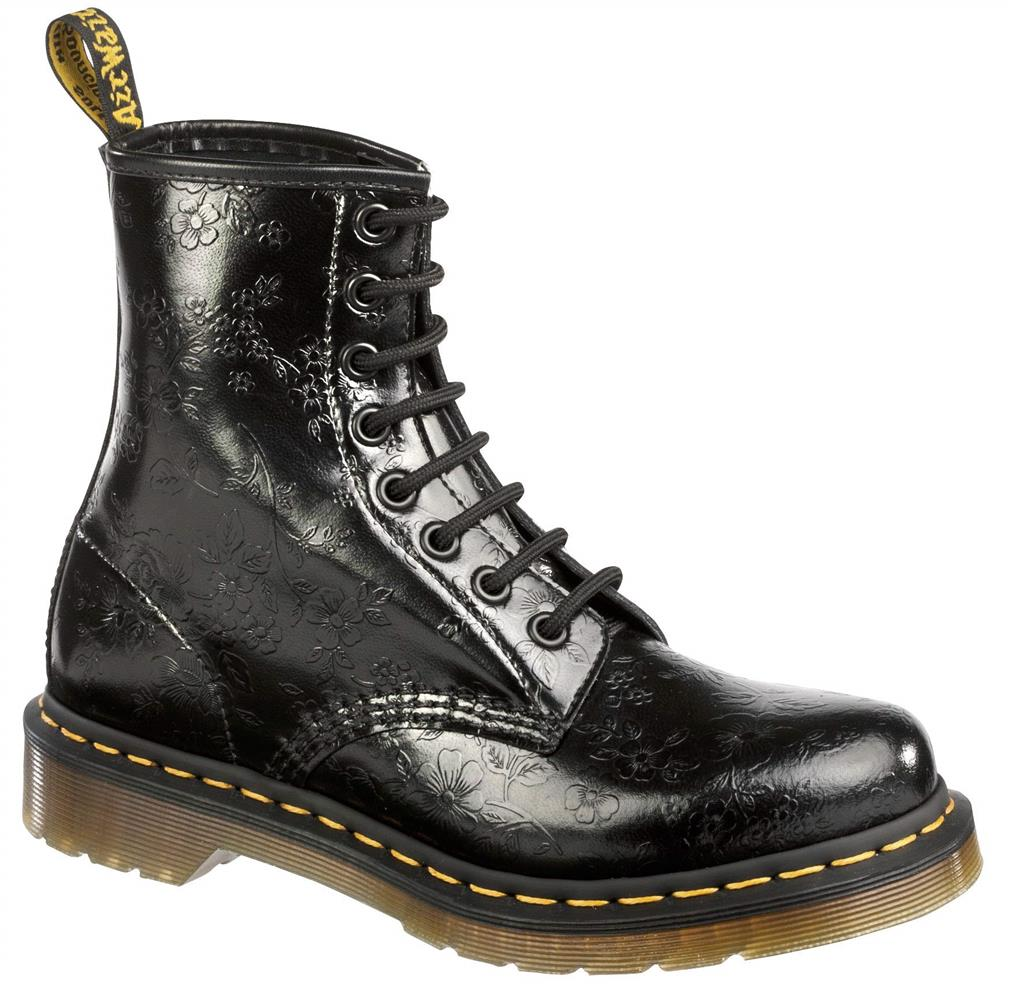 original classique doc dr martens 8 trous 1460 qq fleurs noir 11821018 ebay. Black Bedroom Furniture Sets. Home Design Ideas