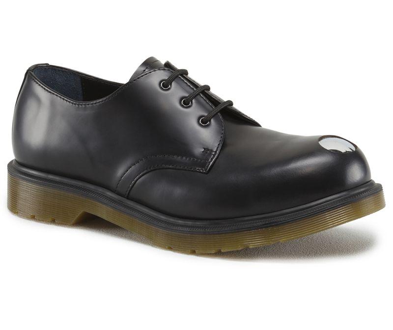 fe2b33c789b Details about Dr Martens 3-hole Keaton Black Steel Toe Cap 14603001  Original Classic Doc