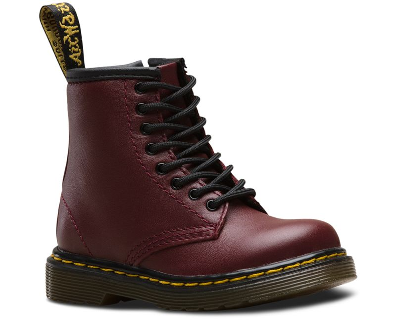 Dr. Martens BROOKLEE Patent Lamper CORE KIDS Boots Stiefel Red