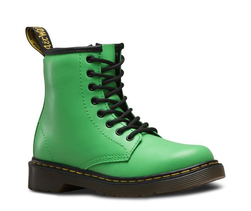 Dr Martens Children Shoes 8 Hole Delaney Slime Green 20669309 With Zip Original Doc   eBay
